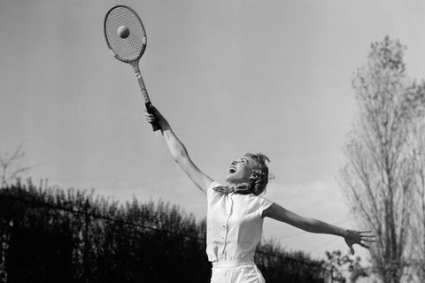 Arm, Racket, Photography, Tennis racket, Tennis player, Monochrome, Tennis, Badminton, Sports equipment, Style,