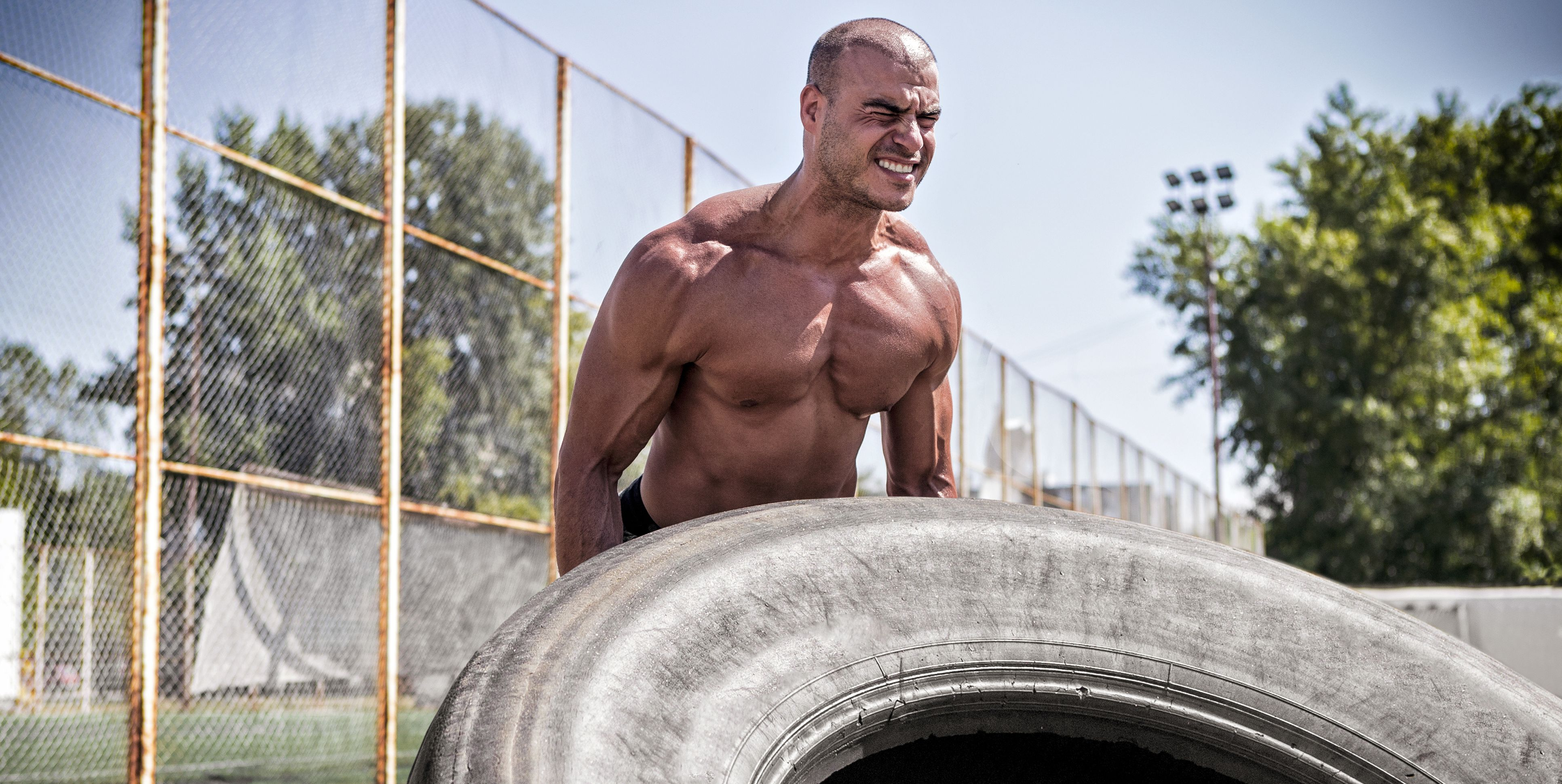 Workout with tire