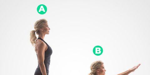 Partner one: air squat