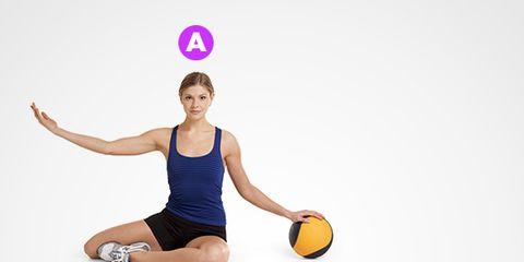 Arm, Ball, Human leg, Sports equipment, Elbow, Shoulder, Joint, Physical fitness, Ball, Sportswear,