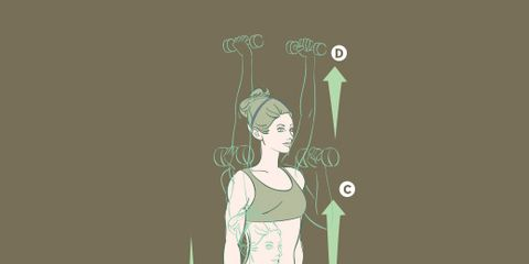 Dumbbell Deadlift to Curl and Press
