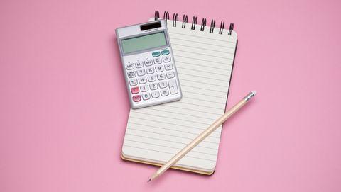 rekenmachine en notebook