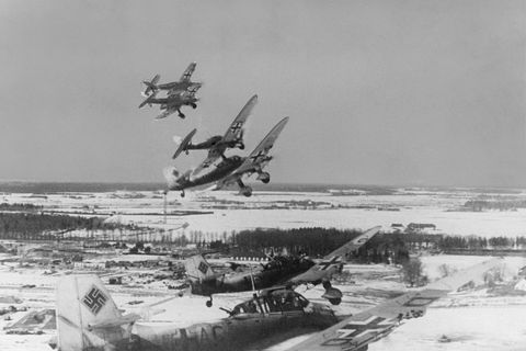 german air force jets seen flying over narva during wwii