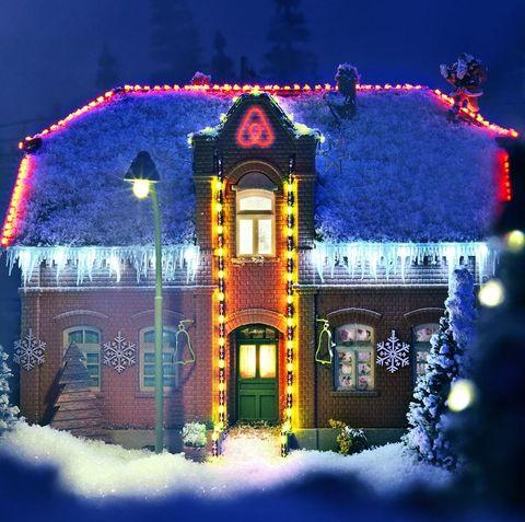 Winter, Snow, Christmas, House, Light, Home, Christmas lights, Lighting, Christmas decoration, Tree,