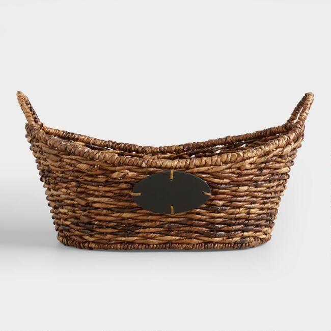 oval woven basket
