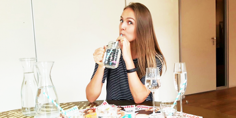 Hele leven alleen maar water drinken