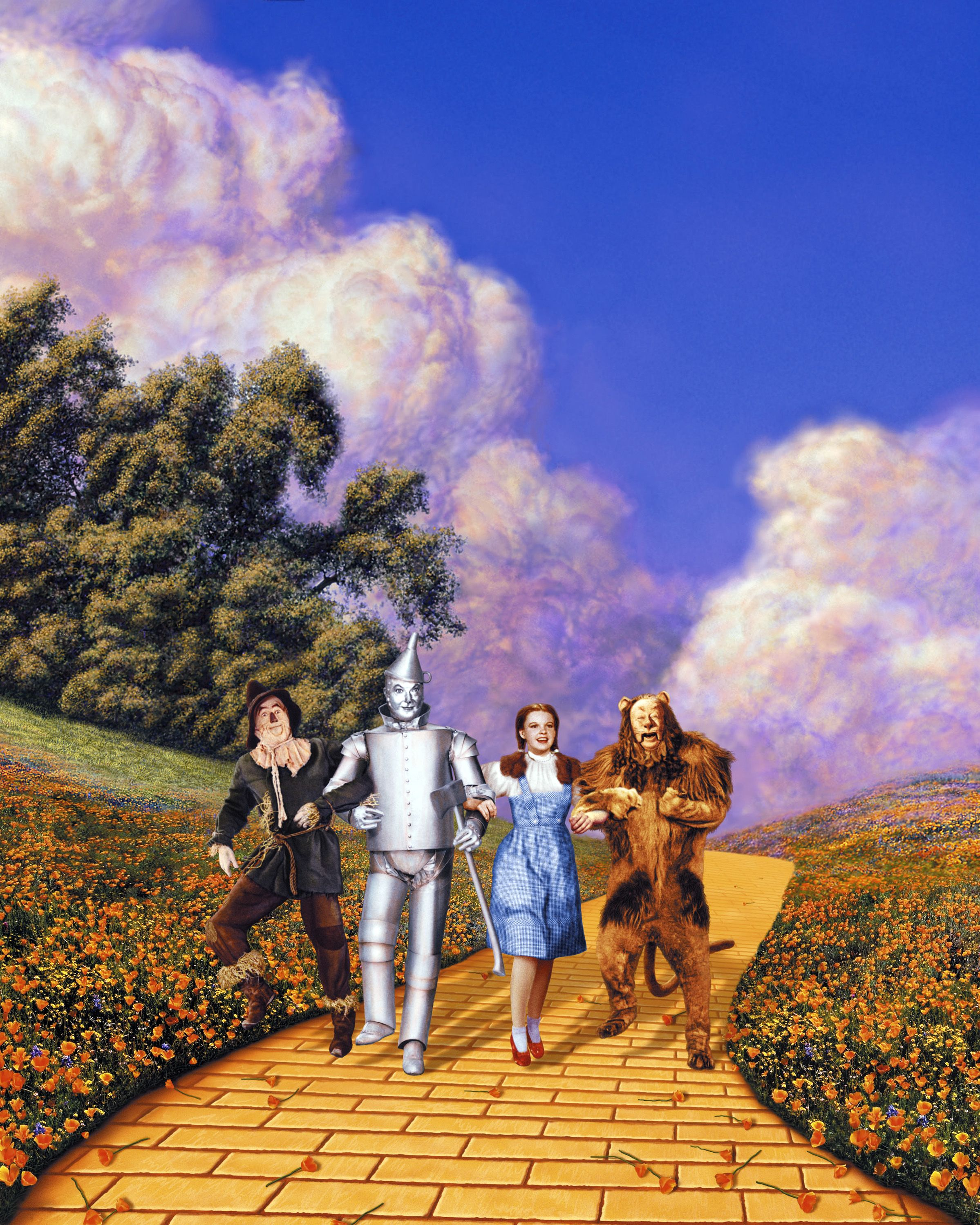 bty  movie scenes ~ THE WIZARD OF OZ SCENIC ~ fabric