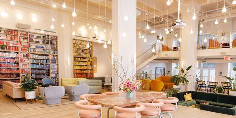 Interior design, Building, Room, Property, Furniture, Living room, Lobby, Ceiling, Table, Design,