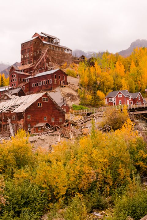 Wrangell St Elias Kennecott Mines Concentration Mill Alaska Wild