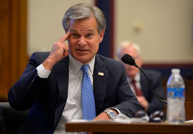 """fbi director christopher wray testifies before a house homeland security committee hearing about """"worldwide threats to the homeland"""" on capitol hill on september 17, 2020 in washington, dc photo by john mcdonnell  pool  afp photo by john mcdonnellpoolafp via getty images"""