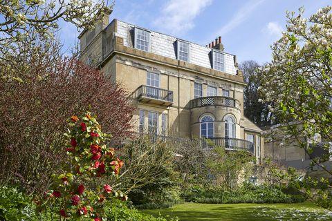 Grade II listed Georgian villa Bathwick Hill for sale in Bath