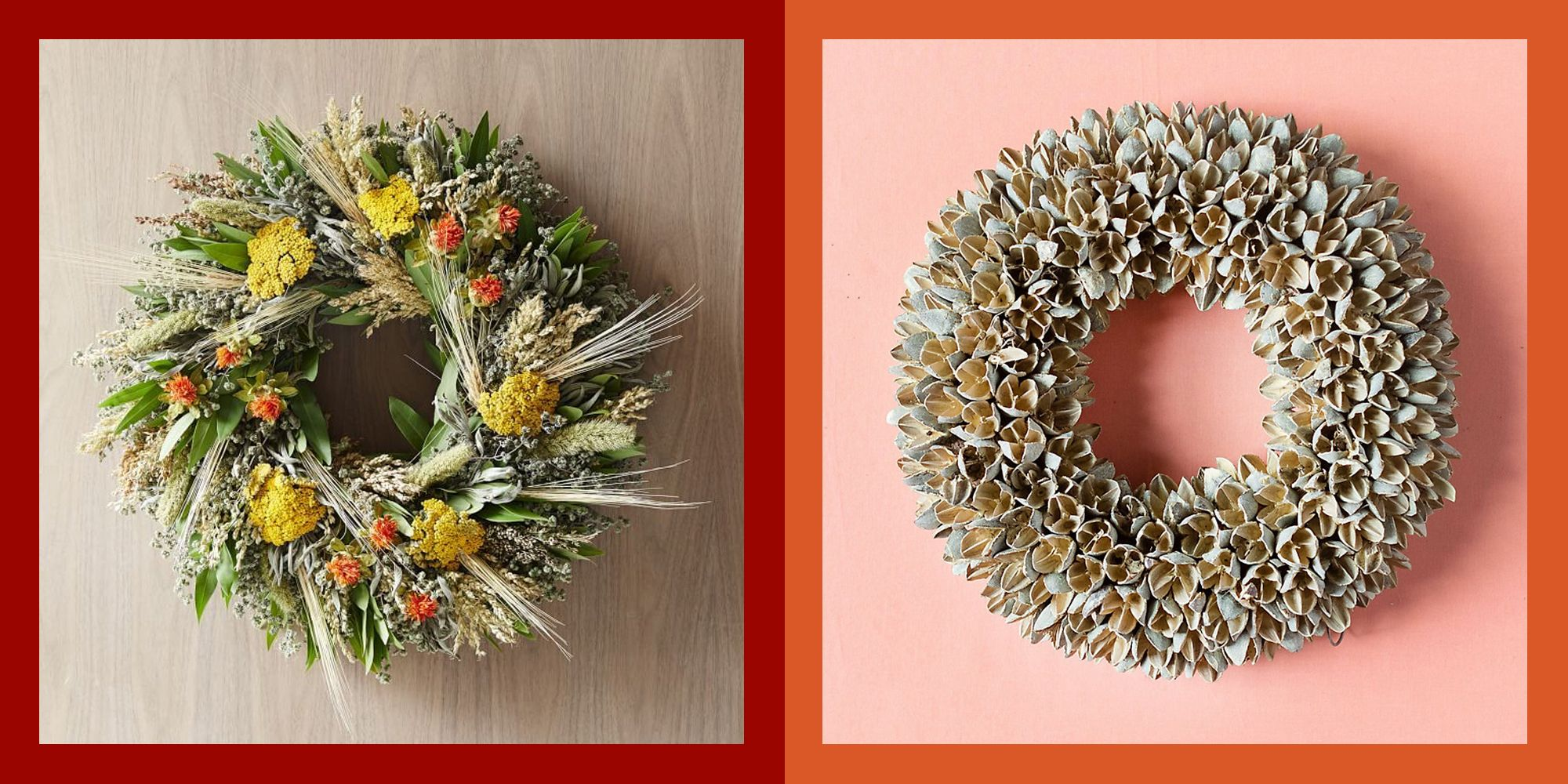 31 Stylish Fall Wreaths Door Decorations With Fall Color Palettes