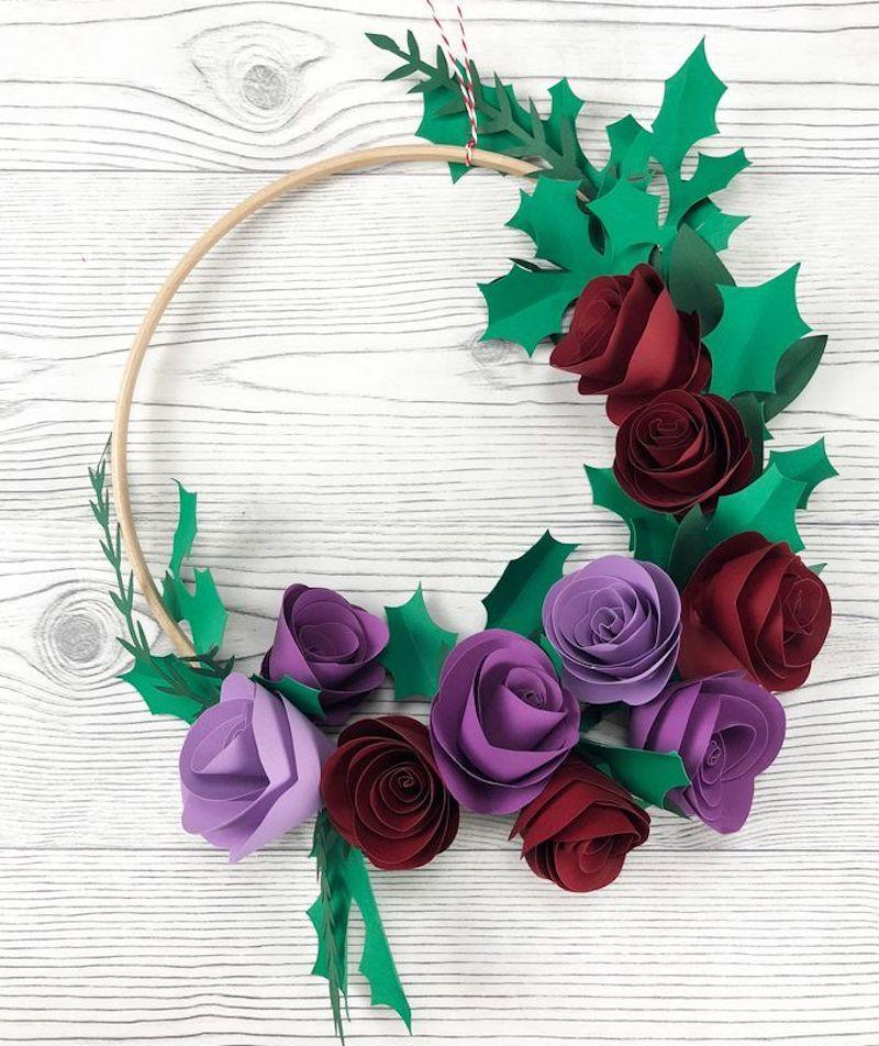 How to make a handmade Christmas paper wreath
