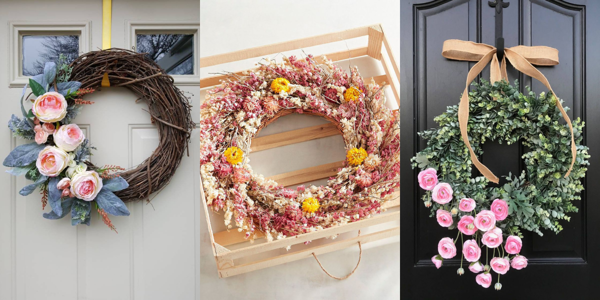 30 Spring Wreaths Easter Spring Door Decorations Ideas