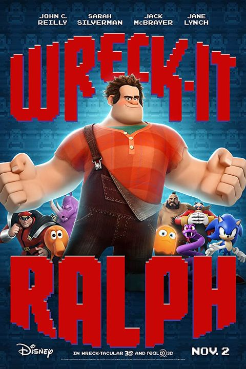 Wreck it Ralph Movie Poster Starring John C. Reilly