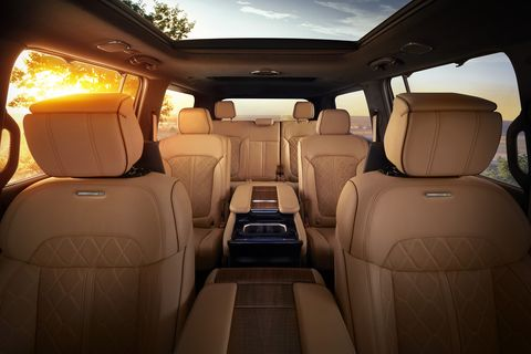 all new 2022 grand wagoneer features hand wrapped, quilited palermo leather seats in all three rows