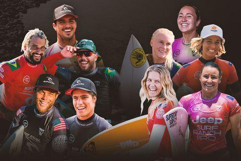 world surf league top athletes