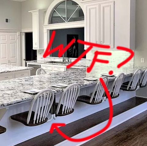 Room, Furniture, Interior design, Property, Countertop, Table, Dining room, Living room, Floor, Building,