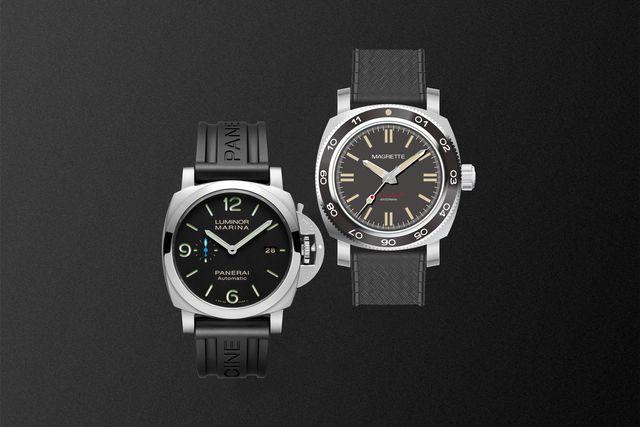 panerai watch and magrette moana pacific waterman