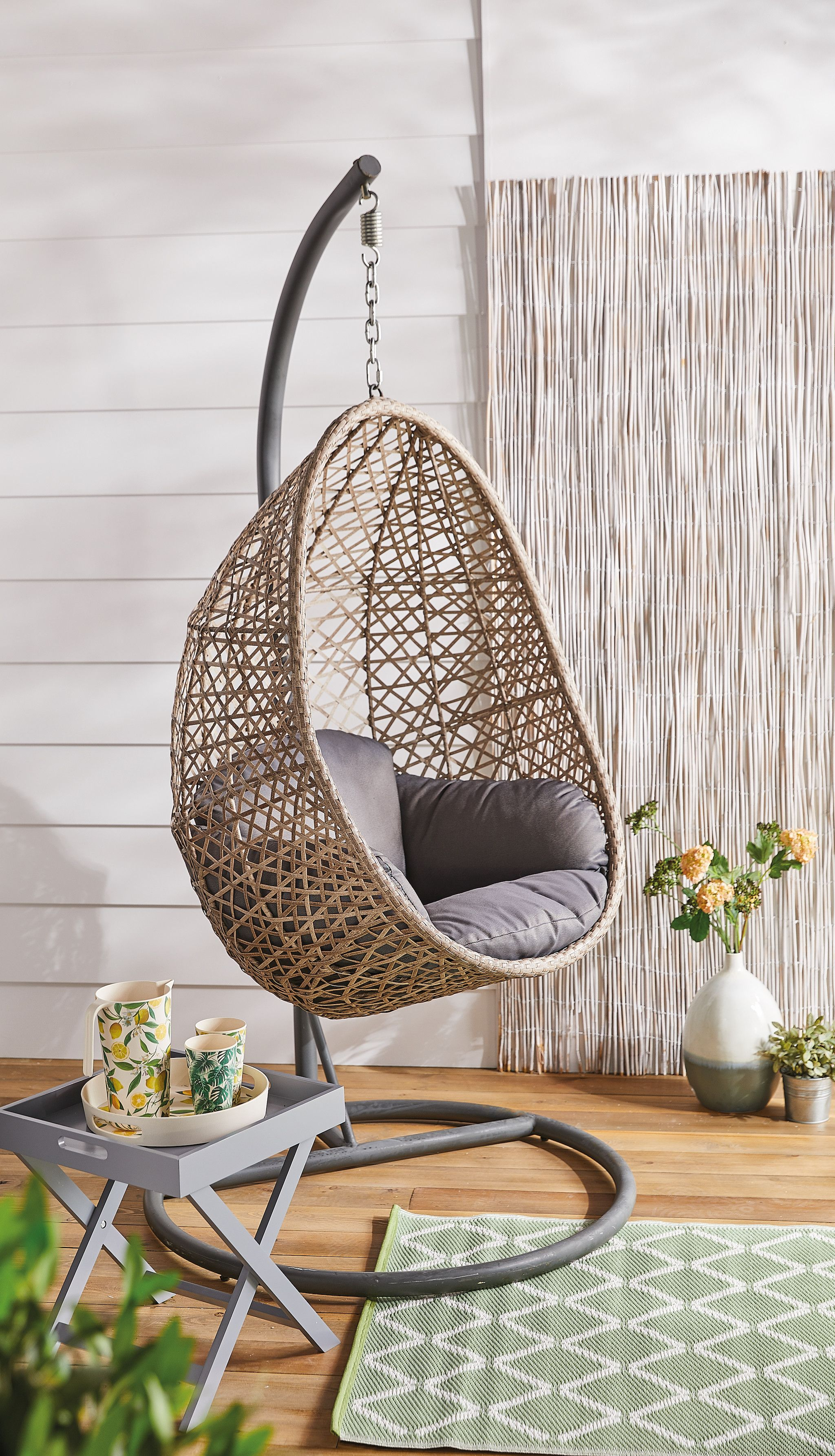 New Aldi Garden Furniture Includes Fire Pit And Hanging Egg Chair
