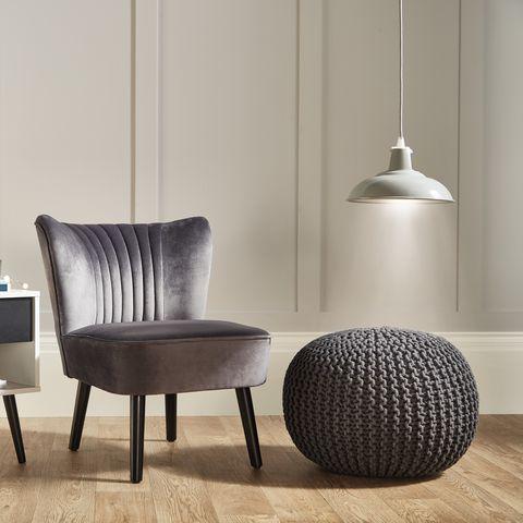Aldi Velvet Chair