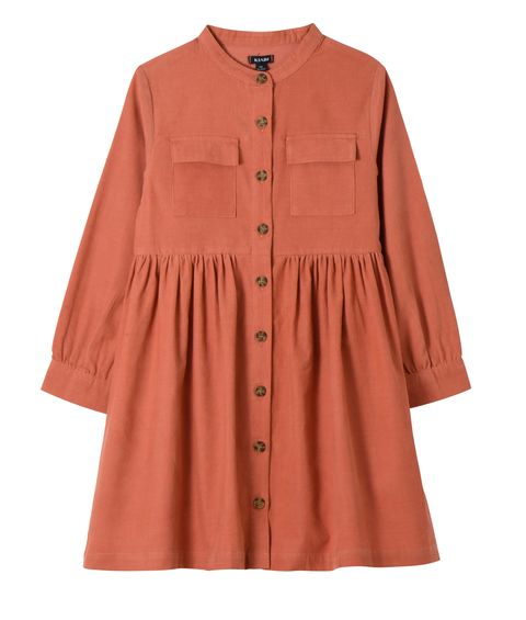 Clothing, Sleeve, Outerwear, Button, Collar, Peach, Blouse, Pocket, Top,