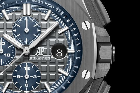 Detail of the Royal Oak Offshore self-winding chronograph watch