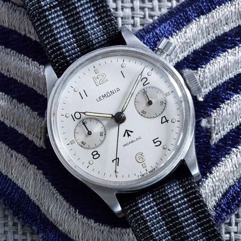 lemania monopusher chronograph