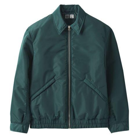 Clothing, Jacket, Outerwear, Green, Sleeve, Collar, Zipper, Windbreaker,
