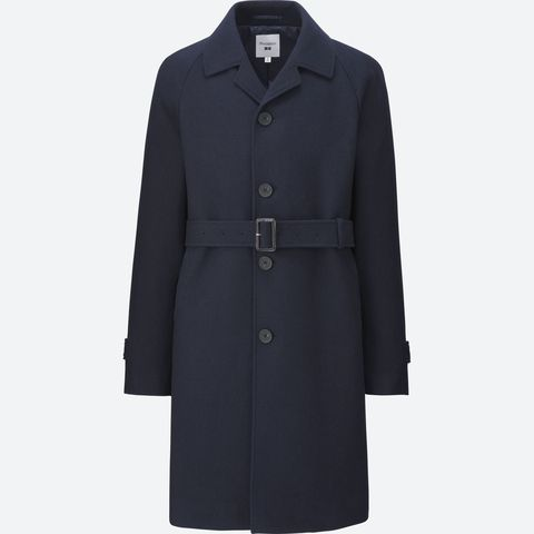 Clothing, Coat, Outerwear, Overcoat, Trench coat, Collar, Sleeve, Jacket, Button,