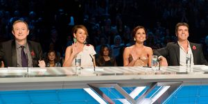 Louis Walsh, Dannii Minogue, Cheryl, Simon Cowell, X Factor judges 2010
