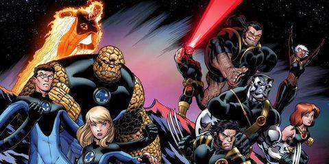 x mendaredevilfantastic four crossover