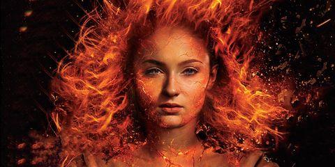 Imagen promocional de Sophie Turner como Fenix Oscura