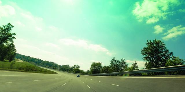 Road, Nature, Green, Daytime, Road surface, Natural landscape, Infrastructure, Asphalt, Highway, Leaf,