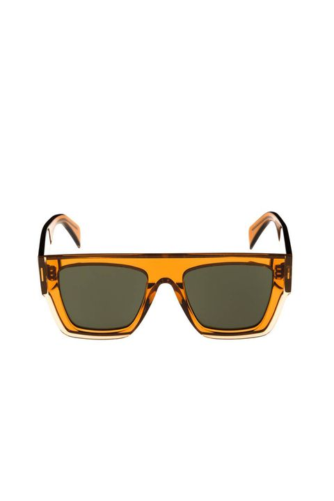 Eyewear, Sunglasses, Glasses, Personal protective equipment, Yellow, Orange, Goggles, Vision care, aviator sunglass, Eye glass accessory,