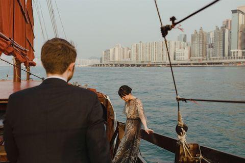 xiao linda liu et matthew penny pour harper's bazaar