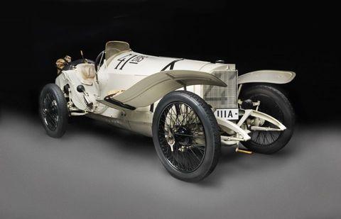1914 mercedes grand prix racing car coche carreras biplaza
