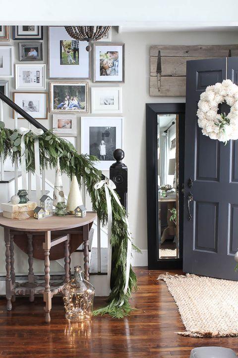 eucalyptus stair decor