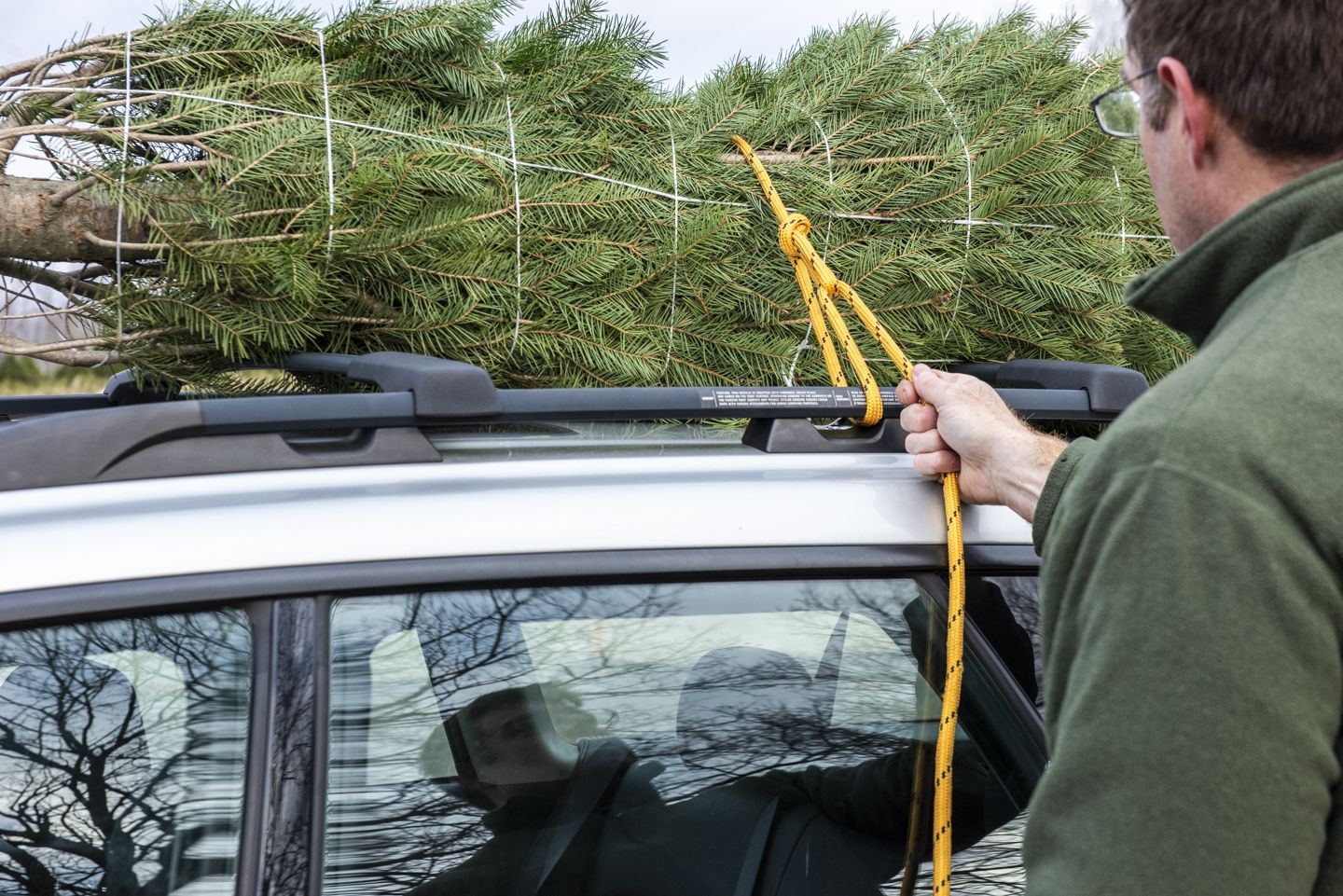 How to Tie a Christmas Tree to a Car | Transport a Christmas