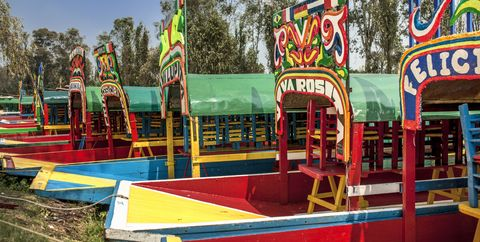Xochimilco gardens and boats