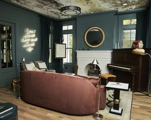 Room, Furniture, Interior design, Living room, Building, Wall, Couch, Chair,