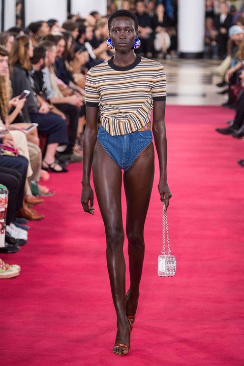 Fashion show, Fashion, Runway, Fashion model, Clothing, Model, Human leg, Leg, Thigh, Public event,