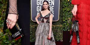 golden globes 2019, golden globes dresses, golden globes red carpet, 女星紅毯, 星光大道, 金球獎, 金球獎2019, 金球獎紅毯,絲帶,安海瑟薇,TIME UP