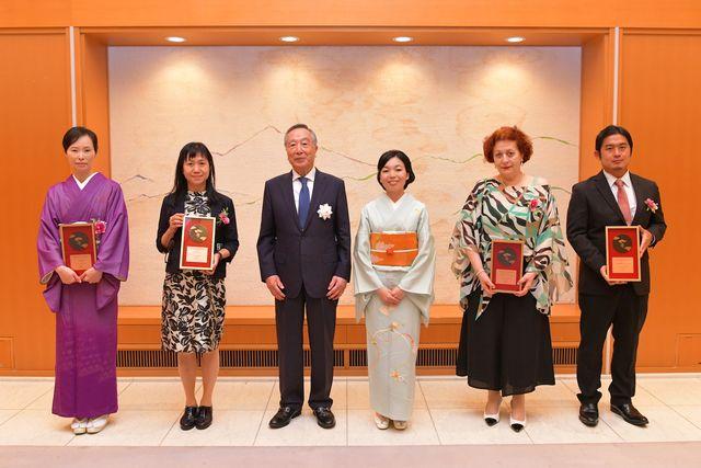 第1回「古典の日文化基金賞」彬子女王殿下と受賞者の皆さん