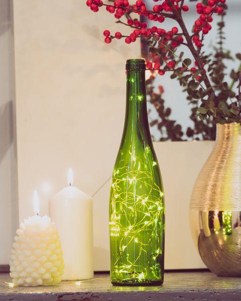 Viña Esmeralda, botella de vino con luces
