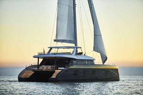 Water transportation, Vehicle, Sailing, Sailboat, Boat, Catamaran, Yacht, Watercraft, Sail, Multihull,