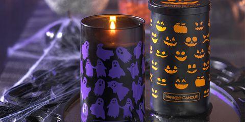 Lighting, Highball glass, Purple, Candle, Glass,