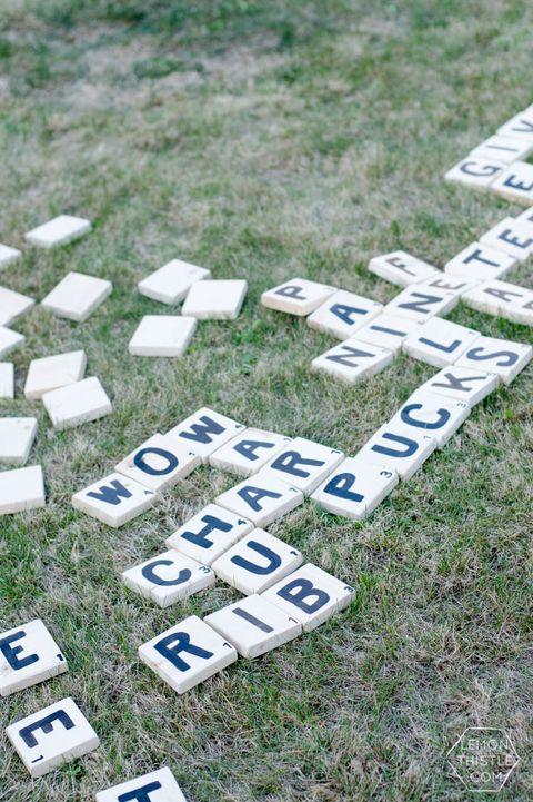 yard scrabble picnic ideas