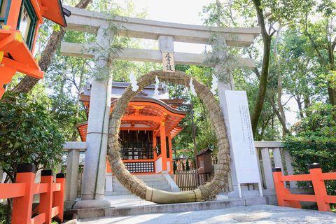 八坂神社 茅の輪くぐり