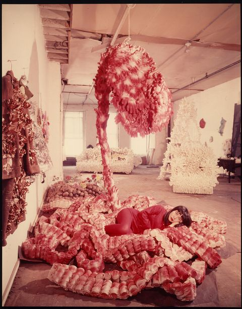 "Peter Moore, Photo of Yayoi Kusama with ""My